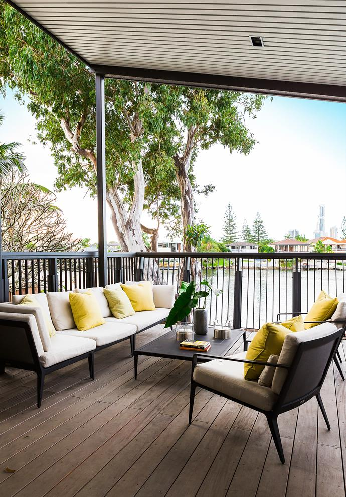 Newly extended, the north-facing deck is a favourite place to sit and watch the world go by.