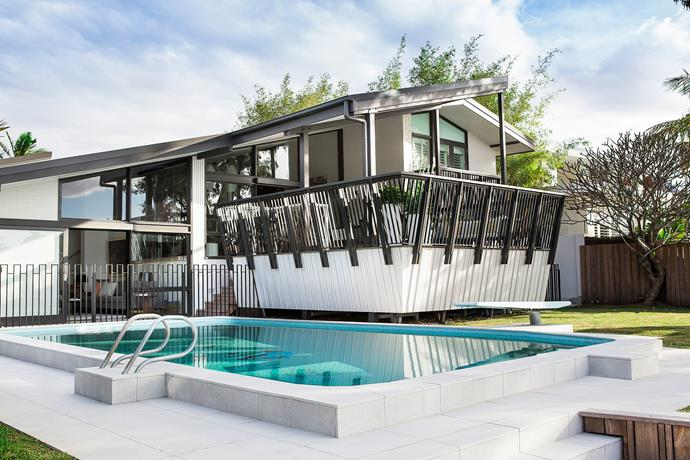 """There are fond family memories tied to every element of this home says its owner, David Dodd, """"right down to the mosaic at the bottom of the pool, which was made by my mother and brother""""."""