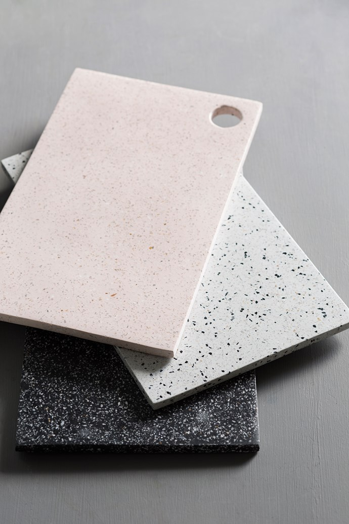 Serve up in style with Zakkia's new Terrazzo boards, available in Black, Snow and Rose.