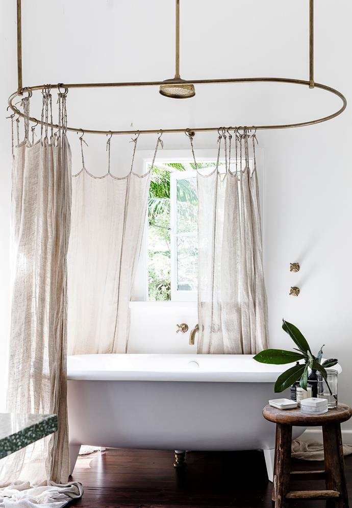 Romantic-industrial style has turned the bathroom in this [renovated beach shack](http://www.homestolove.com.au/pittwater-beach-shack-gets-a-heartfelt-renovation-3064) into an indulgent oasis where you could spend an entire day. Photo: Maree Homer