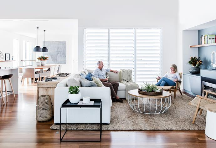 """Still working in Sydney part-time, Kerrie is always delighted to return to this serene abode. """"Coming back to this house is like taking a deep breath,"""" she says. """"It's so calming and physically beautiful."""""""