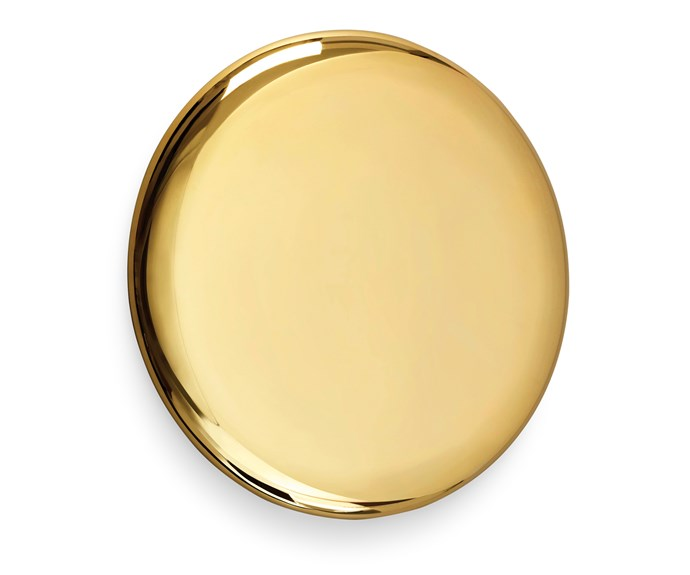 "Michael Anastassiades' penchant for circular themes and reflective surfaces shows in his polished gold-plated 'Beauty' mirror, [Hub](http://hubfurniture.com.au/|target=""_blank""