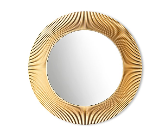"When lit, the pleated metalic frame surrounding the 'All Saints' mirror creates a suffused play of refractions, $1500, [Space](http://www.spacefurniture.com.au/|target=""_blank""