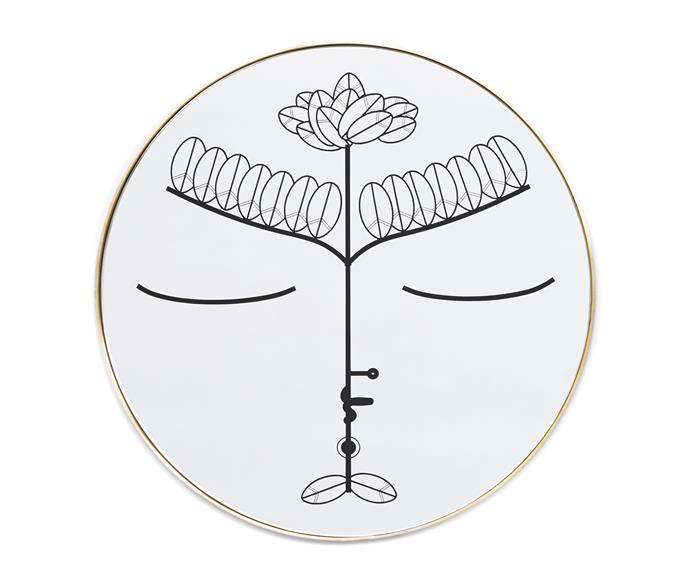 """Taking cues from a set of illustrations inspired by travels in Sicily, entitled Gods and Other Myths, Blakebrough + King's 'Zeus' mirror depicts the Greek God as a swan, $2750, [CRITERIA](http://criteriacollection.com.au/ target=""""_blank"""" rel=""""nofollow"""")."""