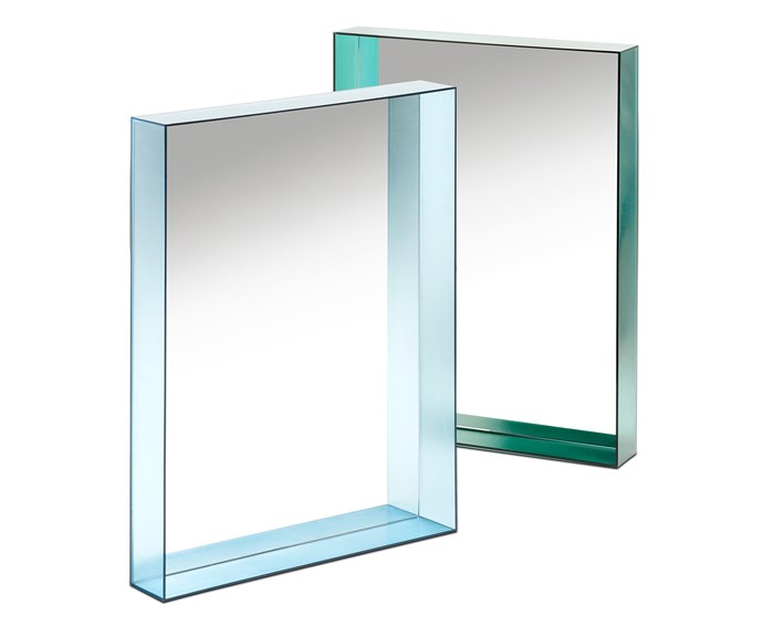 "'Only Me' by Philippe Starck for Kartell, is a series of mirrors encased in a slim transparent coloured frame that embraces the beauty of natural light, $415/each, [Space](http://www.spacefurniture.com.au/|target=""_blank""