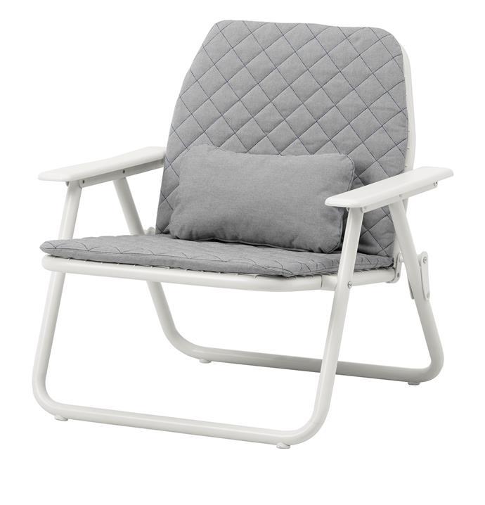IKEA PS 2017 armchair, foldable, $149. **Designer:** Jon Karlsson