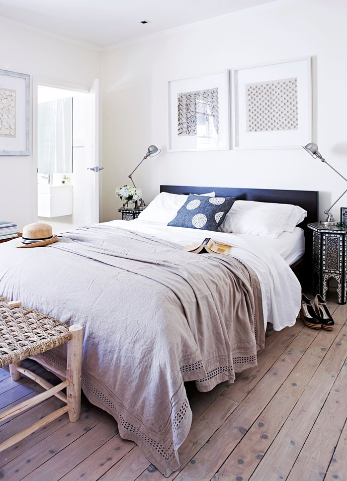 **Luxurious linen –** Layers of luxurious linen create a restful and romantic atmosphere in the master bedroom of this [light-filled Sydney apartment](http://www.homestolove.com.au/gallery-marys-compact-inner-city-flat-1512). Photo: Maree Homer