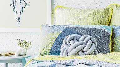 DIY knot cushion