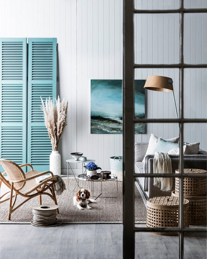 There's no place for fuss in a nautical scheme. Clean lines are key: a medley of textures delivers warmth and interest. *Styling: Kayla Gex | Photography: Maree Homer*