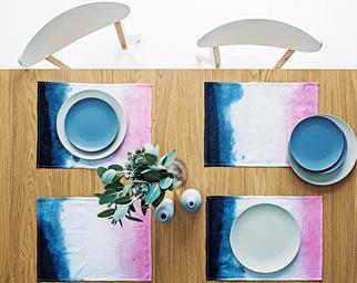 DIY linen placemats