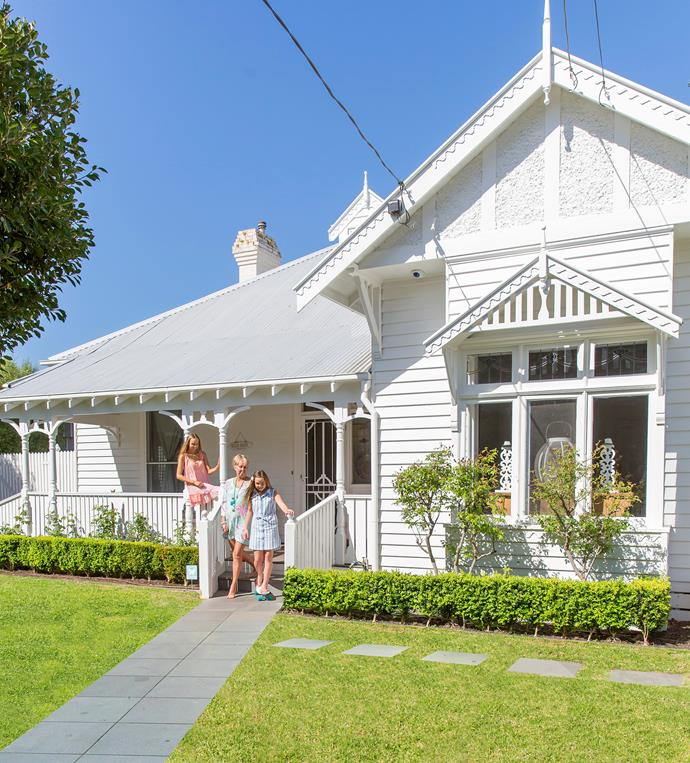 The triple-fronted weatherboard exterior really  appealed to the Rogers family who decided to retain most of the original period features as well as the original floorplan.