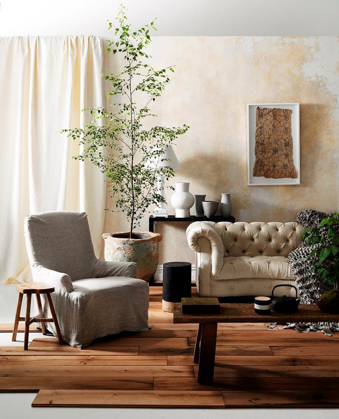 """Farmhouse style is the new shabby chic. [> Get the laidback luxe Belgian look](http://www.homestolove.com.au/get-the-laid-back-luxe-belgian-look-3123
