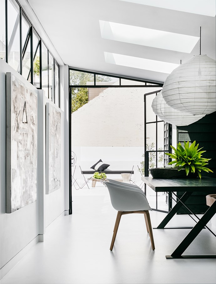 """White [pendant lights](http://www.homestolove.com.au/14-pendant-lights-that-pack-a-punch-2989