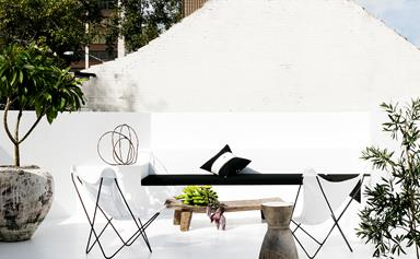 Monochrome makeover of Sydney terrace