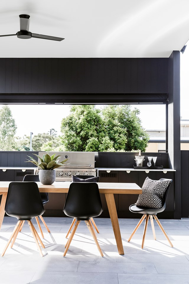 Straight-drop awnings and outdoor blinds are also great for creating privacy.