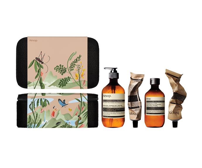 'The Persistent Collector' gift set, $155, from [Aesop](http://www.aesop.com/au/).