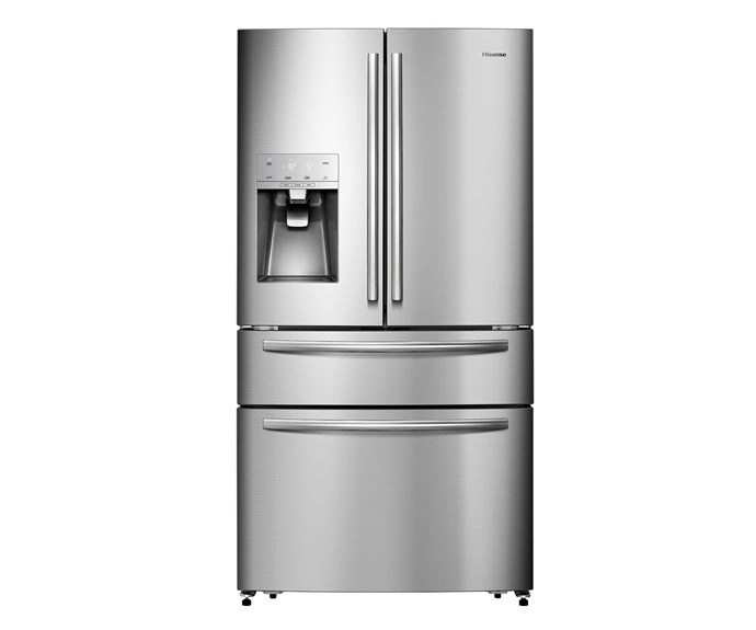 HR6FDFF701SW 701L stainless-steel french-door fridge, $2999, [Hisense](https://hisense.com.au/product/french-door-stainless-701l/).