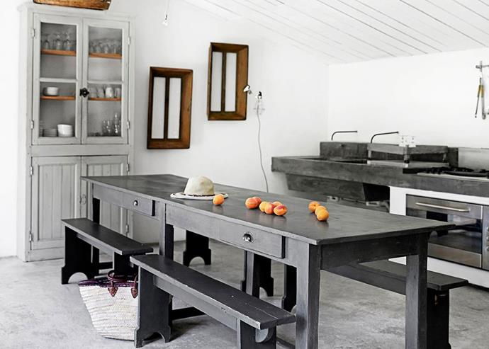 The stripped-back kitchen in this [industrial-style country home](http://www.homestolove.com.au/an-industrial-style-country-home-4615) has a relaxed, Mediterranean feel. *Photo: Birgitta Wolfgang Drejer*