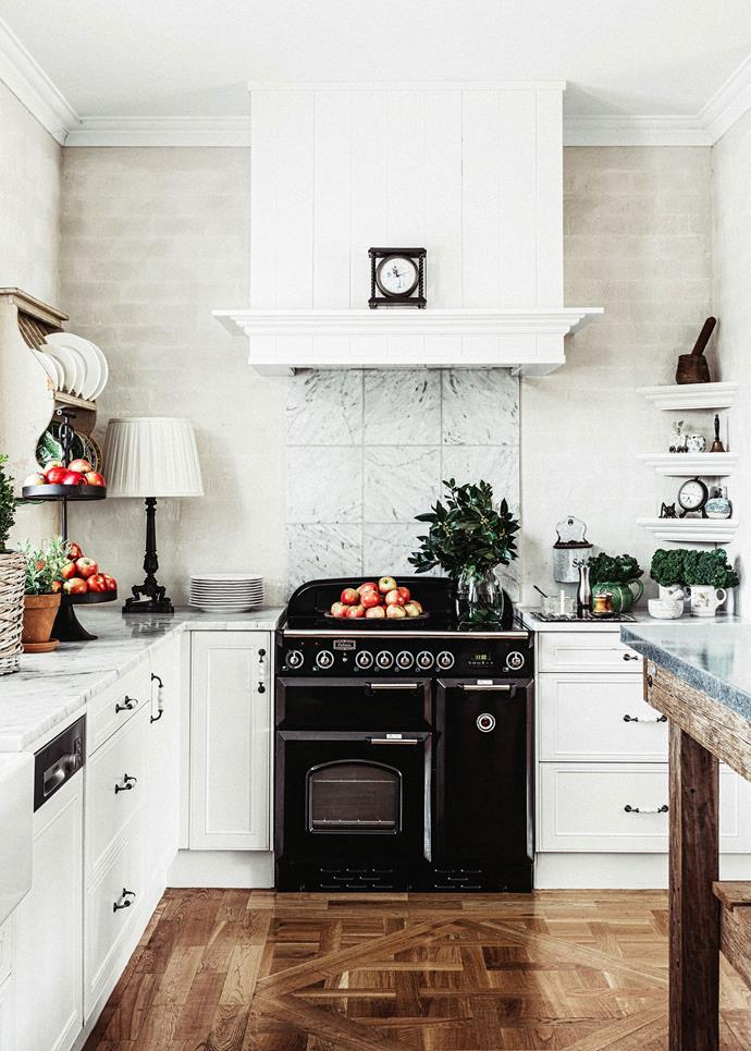 A statement oven, splashback and timber flooring are beautiful additions to this [French-inspired country home](http://www.homestolove.com.au/melissa-penfolds-french-inspired-country-house-2537). *Photo: Felix Forest*