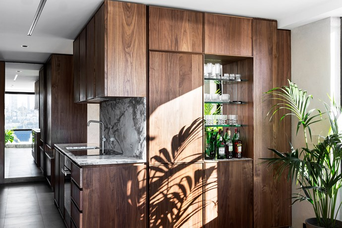 Joinery in American walnut solid and veneer with an oiled finish by Elan Construct.