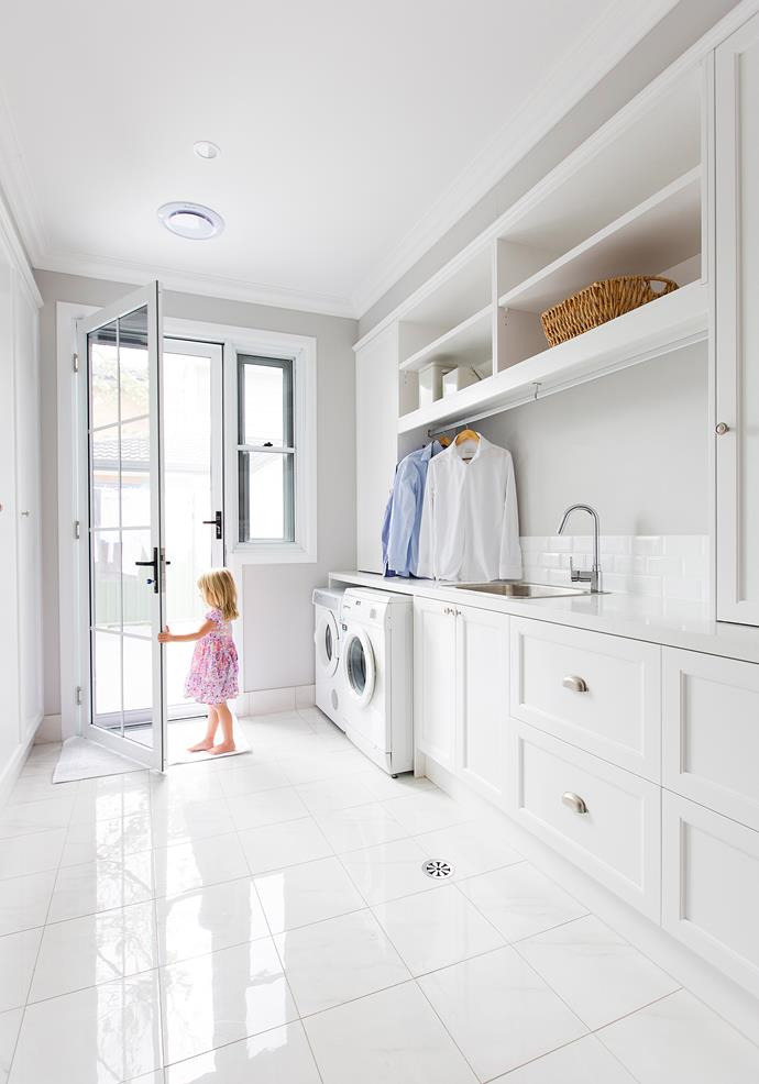 """This large, sleek utility room gets plenty of attention from visitors. """"Most people comment on its size,"""" Emily Jade says."""