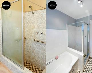 budget bathroom reno