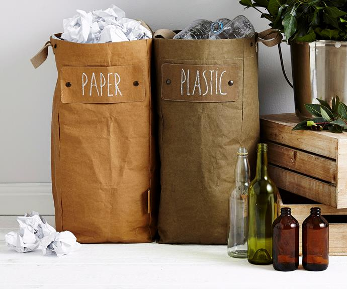 stylish recycling bins