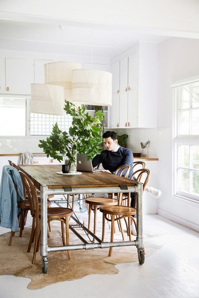 The first time interior design couple Josh and Adriana tried to paint their home, it was a complete fail. The pair nailed it the second time around though, using the right products for the job. *Photo: Chris Warnes*
