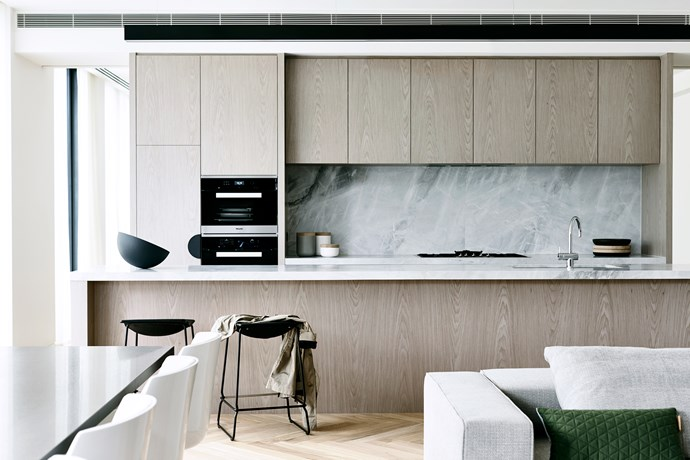 Miele appliances and Elba stone in the kitchen.