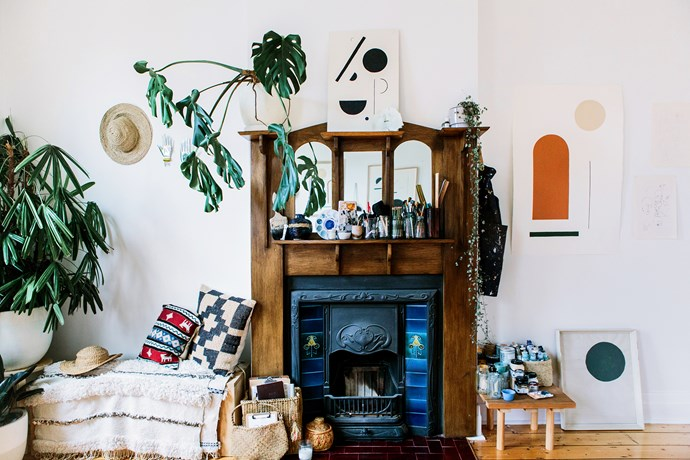 Bobby's decorating advice to fellow renters is to invest in handmade furniture that works in a variety of spaces and fill your rooms with plants. Plants make a house a home!