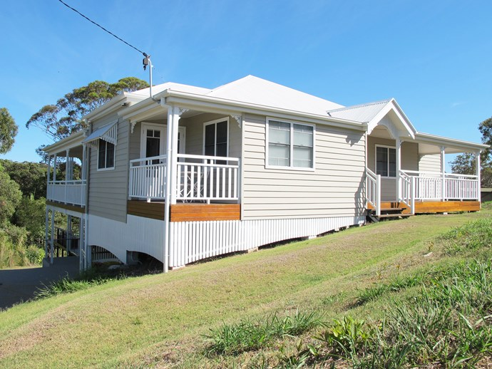 Lucy and Steve combined their wish list by building a Queenslander-style home in a quiet and green location.