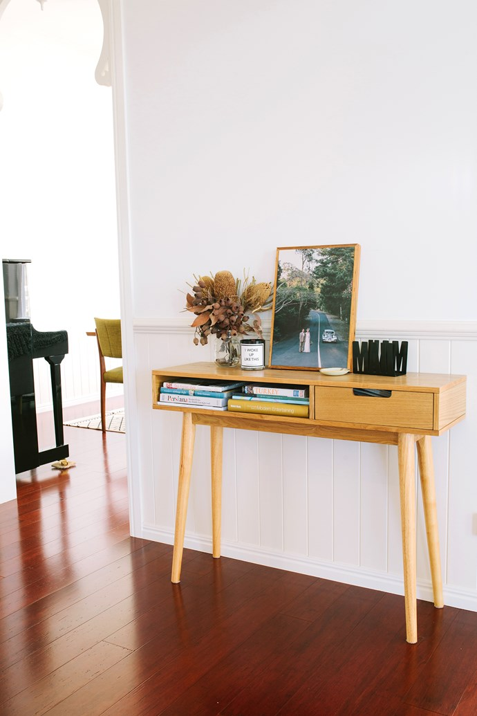 The hallway table is from local store, Willow & Bird.