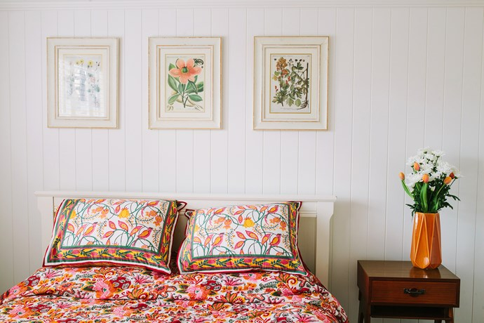 """Colour is the main consideration when Lucy is styling a room. """"I have a palette of colours and tones in my head that I know works,"""" she says. """"It's so much easier to tie patterns together when I have the colours downpat."""""""