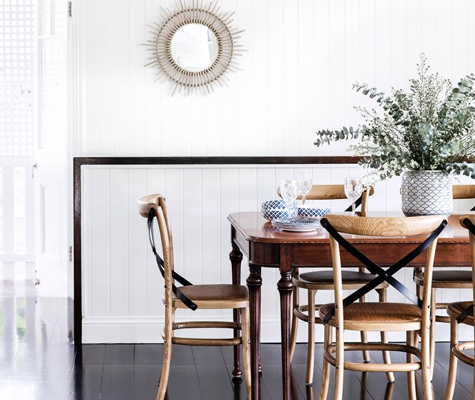 Timber classics and a neutral colour palette is a sure way to timeless styling. *Photo: Maree Homer*
