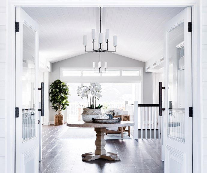 Interior designer Tonka Andjelkovic positioned this table centrally to create a sense of arrival in this well-framed spot. *Photo:Maree Homer*