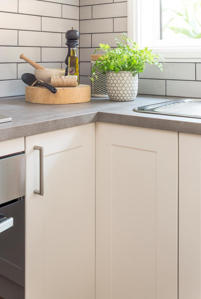 An optional extra in hard-to-reach corner cabinets is rotating baskets, for better organisation  and easier access.