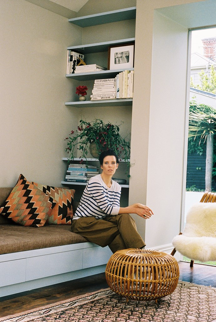 Karen's favourite piece of furniture is the day bed that was designed by her friend Katie Lockhart.