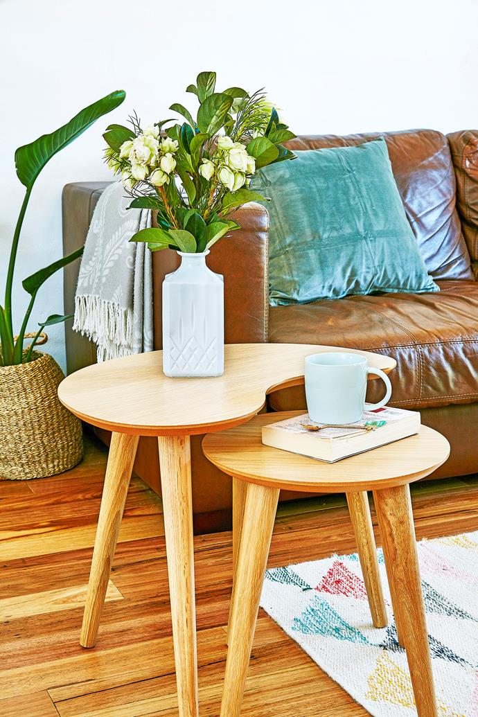 These shapely nesting tables fit together neatly – so handy!