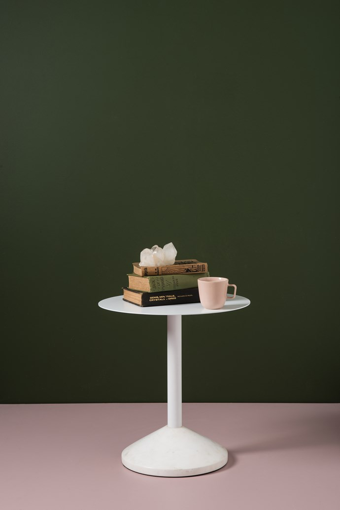 Weight side table, $699. Talo mug, $25.90.