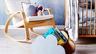 DIY kids' book rack