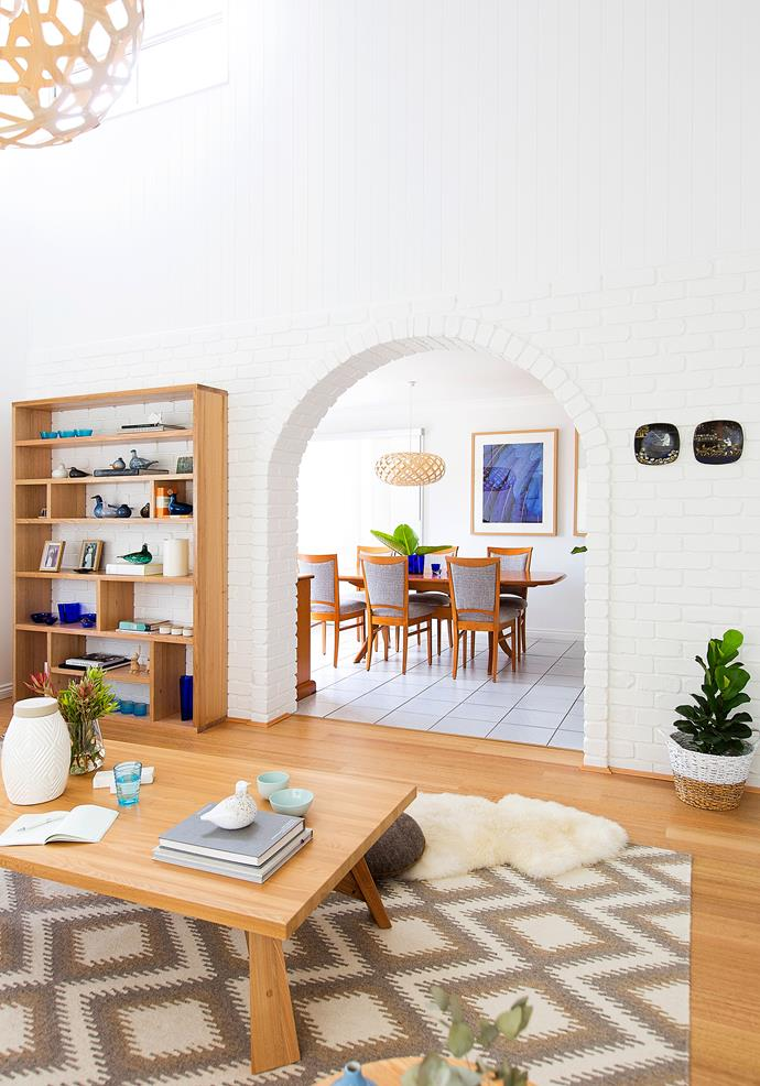 High ceilings, bright white walls and loads of natural light set the perfect scene for Eileen's Nordic-themed decor scheme.