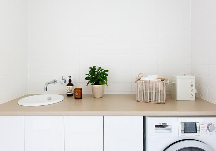 Eileen chose a combined washer and dryer to achieve a streamlined look and save space.