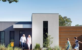 sloping block house design