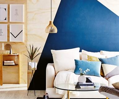 DIY geometric feature wall
