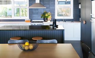 dark cabinetry kitchen