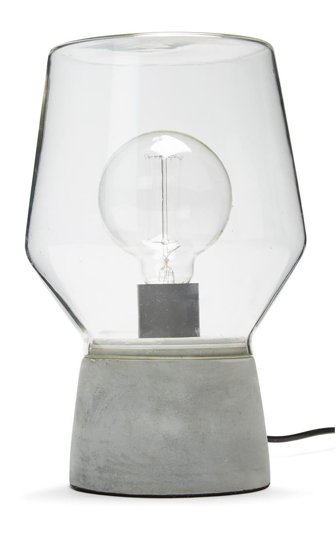 Cemento lamp, $20.
