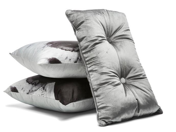 Velvet button cushion, $8.