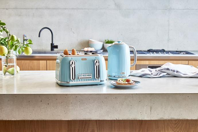 1.7 litre Euro kettle and 4 slice Euro toaster, $39 each.