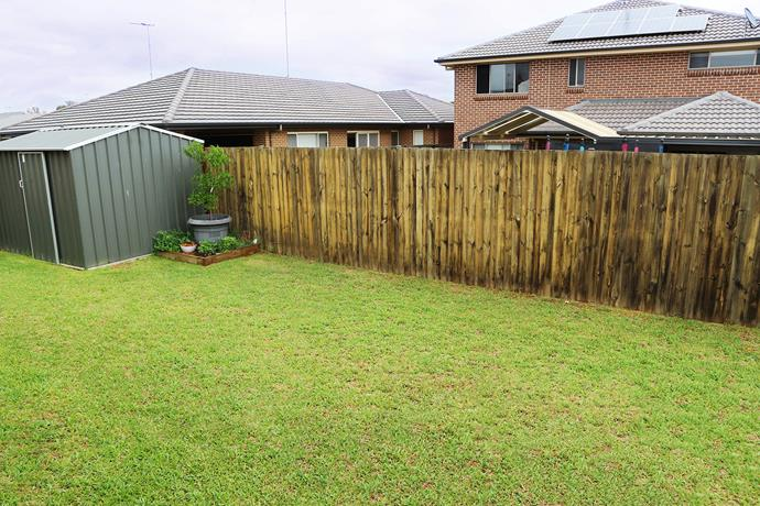 Overlooked by neighbouring properties and with patchy grass, the yard was plain and uninviting – but had plenty of potential.