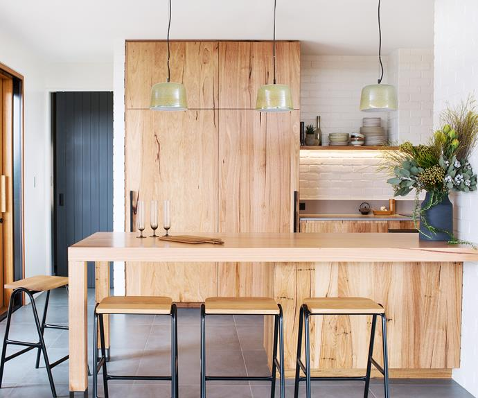 modern timber kitchen